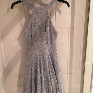 Formal silver dress